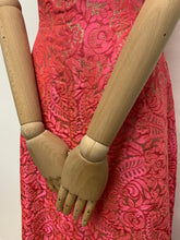 Load image into Gallery viewer, Blanes Pink Brocade Maxi Dress