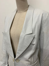 Load image into Gallery viewer, White Leather Blazer