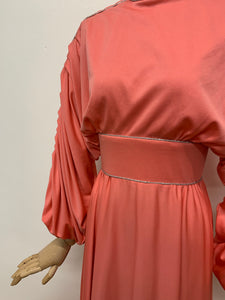 After Six by Ronald Joyce Coral Maxi Dress