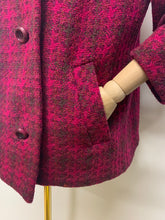 Load image into Gallery viewer, Admyra London 1960s Pink Welsh Wool Coat
