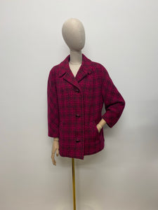 Admyra London 1960s Pink Welsh Wool Coat