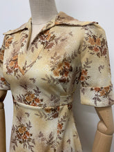 Load image into Gallery viewer, 1970s Autumn Floral Dress