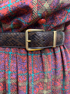 Bronze Faux Snake Belt