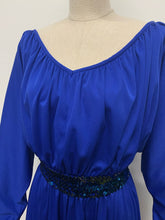 Load image into Gallery viewer, Electric Blue Sequinned Dress