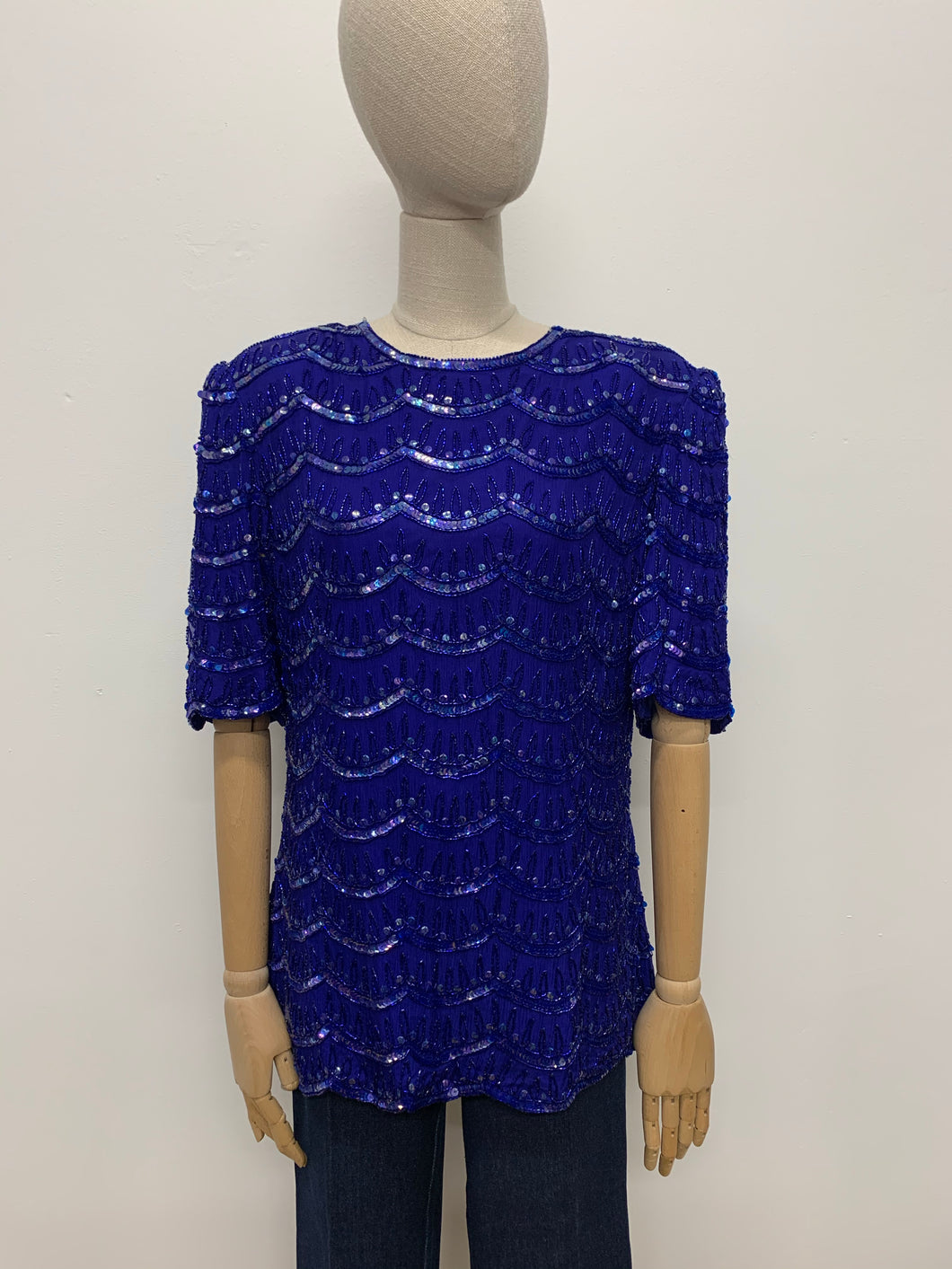 Frank Usher Scallop Beaded Blouse