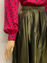 Load image into Gallery viewer, Bronze Taffeta Maxi Skirt