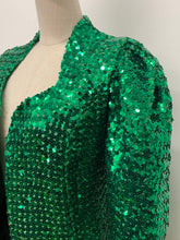 Load image into Gallery viewer, Green Sequinned Jacket