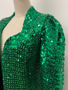 Green Sequinned Jacket