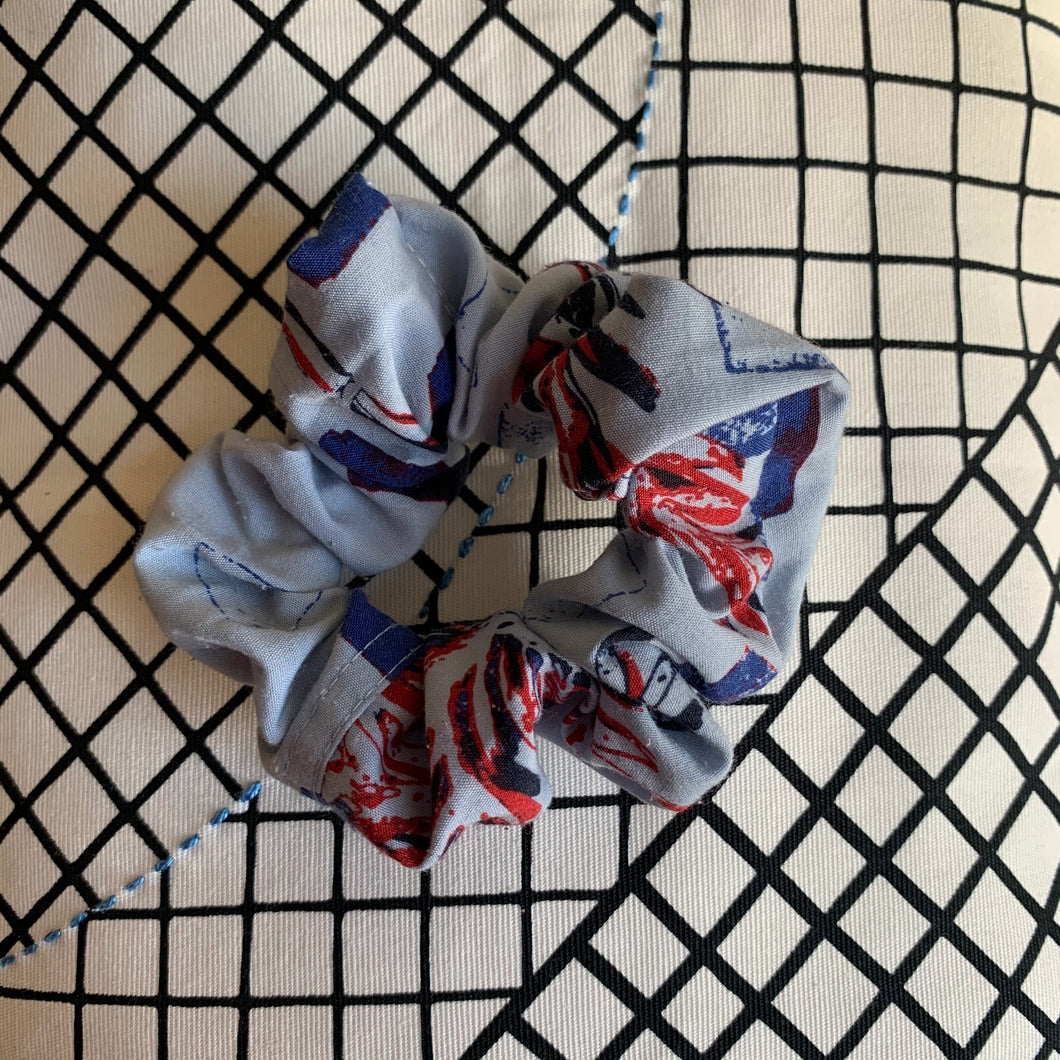 Vintage Fabric Scrunchie