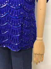 Load image into Gallery viewer, Frank Usher Scallop Beaded Blouse