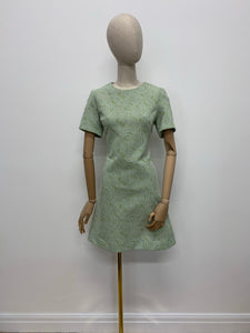 Homemade Green Swirl Crimplene Dress