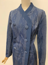 Load image into Gallery viewer, Slate Blue Tuxedo Dress