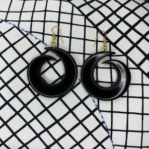 1980s Swirl Earrings