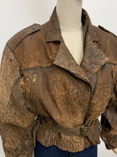 Load image into Gallery viewer, 1980s Brown Distressed Suede Jacket