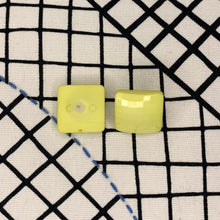Load image into Gallery viewer, 1960s Square Nylon Prism Earrings