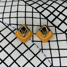 Load image into Gallery viewer, 1970s Art Deco Style Stud Earrings