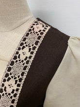 Load image into Gallery viewer, 1970s Brown & Cream Prairie Dress