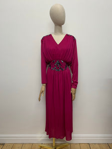 Peggy French Magenta Maxi Dress