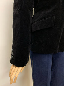 Laura Ashley Black Velvet Blazer