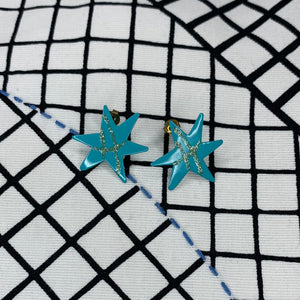 1980s Bang Enamel Earrings