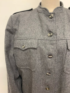 Jaeger Grey Military Style Coat