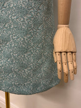 Load image into Gallery viewer, 1960s Duck Egg Brocade Dress