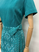 Load image into Gallery viewer, Turquoise 1960s Maxi Dress Suit
