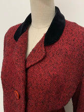 Load image into Gallery viewer, Red Bouclé Blazer