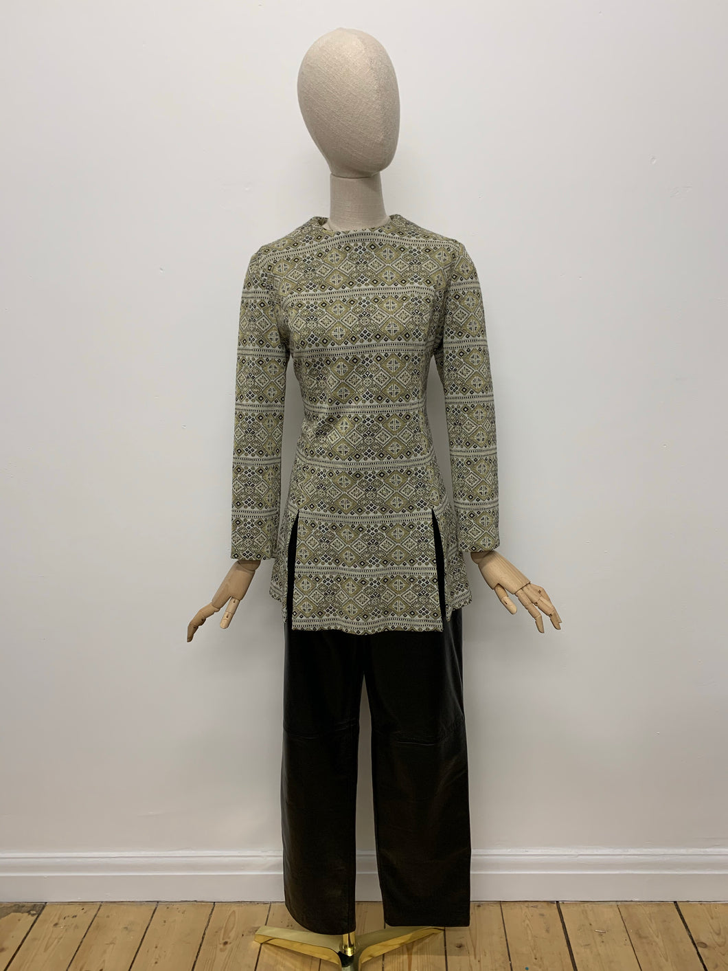 Geometric Lurex Tunic