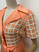 Load image into Gallery viewer, 1970s Peach Dress