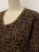 Load image into Gallery viewer, Brown & Gold Lurex Knit