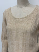 Load image into Gallery viewer, Cream & Gold Lurex Jumper