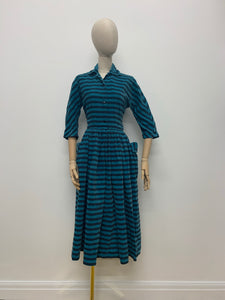 Horrockses Striped Cord Dress
