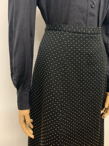Gold Spotty Maxi Skirt