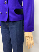 Load image into Gallery viewer, Mansfield Purple Velvet Collared Jacket