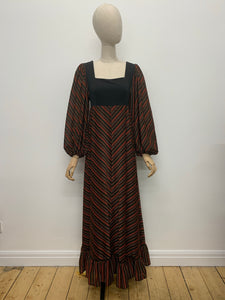 Richard Shops Balloon Sleeve Maxi Dress