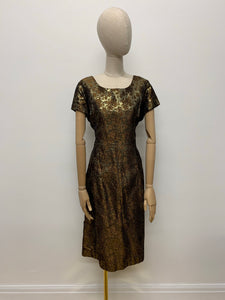 1960s Lurex Rose Dress