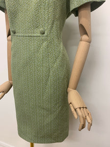DL Barron Green Crimplene Dress