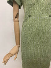 Load image into Gallery viewer, DL Barron Green Crimplene Dress