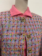 Load image into Gallery viewer, Jaeger Lilac Bouclé Houndstooth Jacket