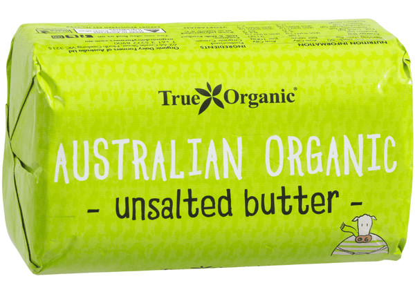 True Organic Butter Unsalted Butter 250g