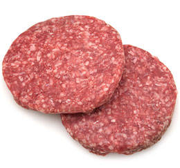 Beef Hamburger Patties 8 oz. (10 Patties), USDA Inspected, 80% Lean, FRESH