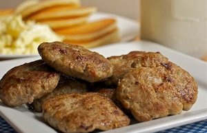 Turkey Sausage Patties Jennie-O Brand Packed 90/1.6 oz. Patties Per Case - 9 lb.