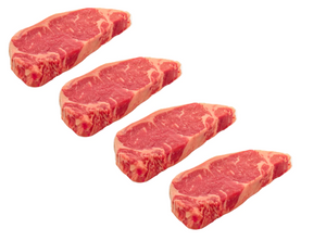 Beef Boneless New York Strip Steaks 8 oz. 4-Pack USDA Choice FRESH (Order by Pack)