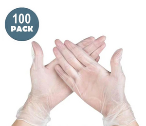 VINYL GLOVES POWDER FREE LARGE BOX OF 100 (1 UNIT) LIMIT 2