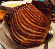Load image into Gallery viewer, SPIRAL SLICED HONEY GLAZED HAMS WHOLE 13-15 LB. AVG. DEARBORN BRAND
