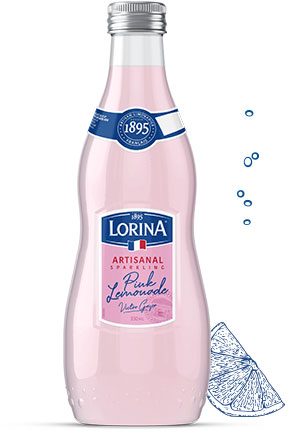 Lorina French Artisanal Sparkling Pink Lemonade (Case of 12 bottles)