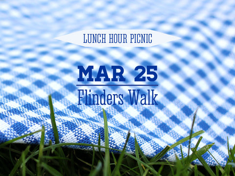 Lunch Hour Picnic For Two Flinders Walk 1pm - 2pm