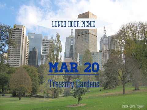 Lunch Hour Picnic for Two Treasury Gardens 1pm-2pm