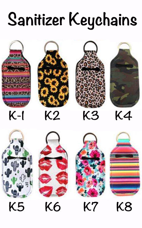 SANITIZER KEYCHAINS (48)